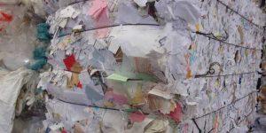 Balle de papiers broyés
